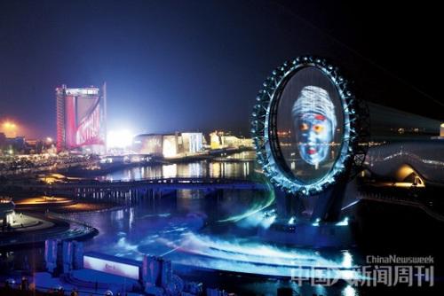 """世博会 丽水 韩国/韩国丽水的世博会场内,寓意海洋的巨大""""O""""造型特别舞台。"""
