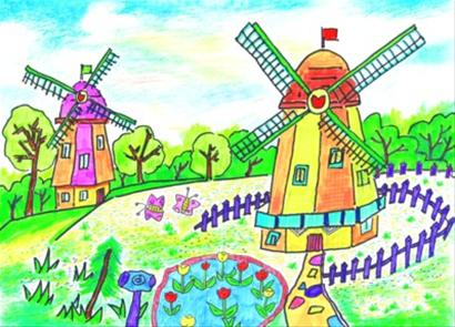 儿童画公园图片