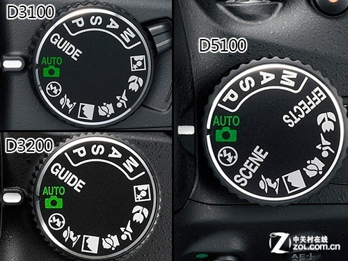 尼康3台单反模式转盘