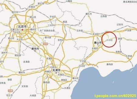 月28日10时22分,在河北省唐山市辖区、滦县交界处 ...