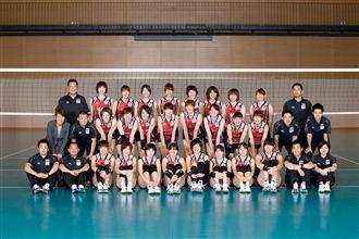日本女排全家福