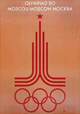 1980年第22届莫斯科奥运会海报