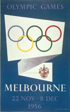 1956年第16届墨尔本奥运会海报