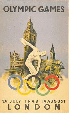 1948年第14届伦敦奥运会海报