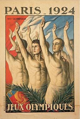 1924年第8届巴黎奥运会海报