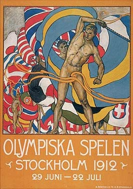 1912年第5届斯德哥尔摩奥运会海报