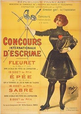 1900年第二届巴黎奥运会海报
