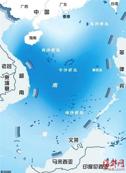 千余外国油井立南海 中国未产一滴南沙油(图)-
