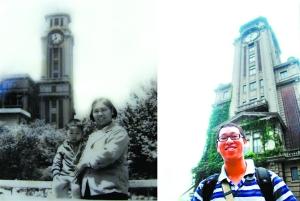 1983年和2010年的上海美术馆。(受访者莫伟提供)