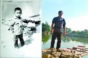 1984年和2011年摄于桂林。(受访者莫伟提供)