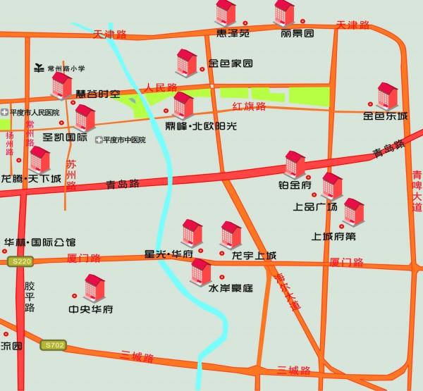 平度市最新地图