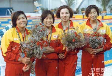中国泳坛四朵金花
