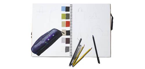 MUJI绘画本与笔袋