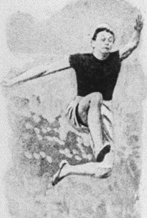 1900年巴黎奥运会,美国选手在跳远比赛中