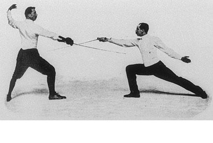 图文:1900年巴黎奥运会回顾 击剑比赛