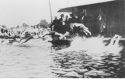 图文:1900年巴黎奥运会回顾 游泳比赛