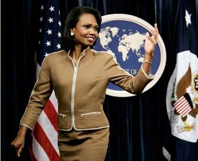 美国女国务卿赖斯_世界女政客排行 希拉里穿豹纹默克尔露豪乳(组图)(1)_科技频道 ...
