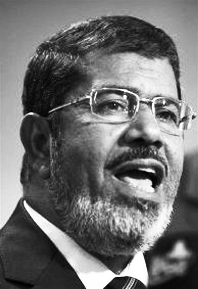 穆斯林兄弟会总统候选人穆尔西。