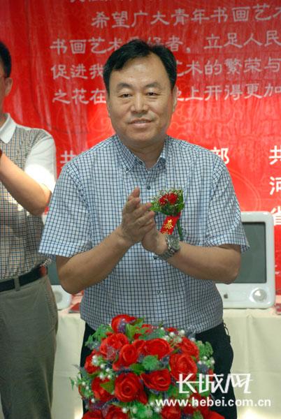 省青联副主席张泽峰,省委宣传部文艺处处长王振儒以及省会书画界的图片