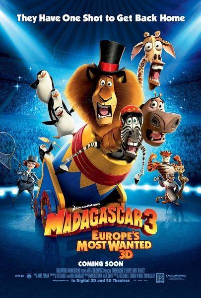 《马达加斯加3》海报。