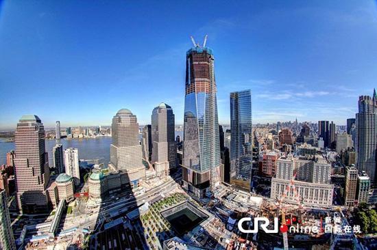 正在建设中的新世界贸易中心大厦资料图