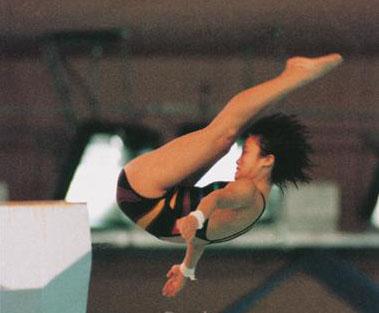 女子跳水跳板冠军高敏