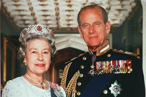 英国女王及其丈夫菲利普亲王