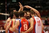 图文:中国男排0-3塞尔维亚 塞尔维亚激情无限