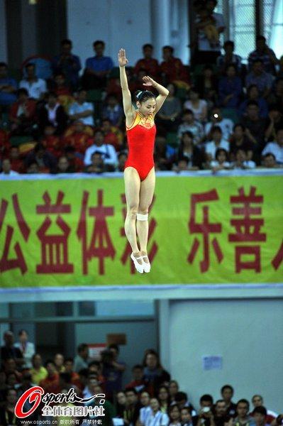 体操联合会蹦床世界杯(太原站)比赛圆满完成各项赛程,在山西体