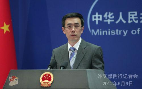 2012年6月6日,外交部发言人刘为民主持例行记者会。
