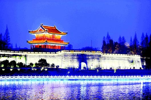 荆州古城夜景冠美全国