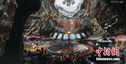 神奇 海量手绘图曝光 打造玄幻科技篮球场