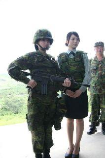 """参演女兵。台湾""""中广新闻"""""""