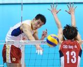 图文:[奥运赛]男排2-3韩国 陈平突破拦网