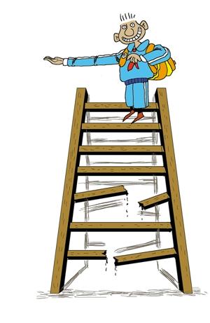 调查称安徽作文题最坑爹:梯子不用时请横着放