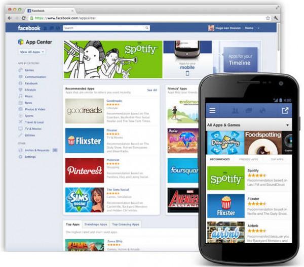 的应用从此登陆了facebook广大社交地图的网页端和