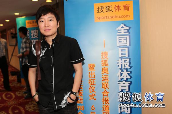 图文:搜狐奥运报道团成立 中国青年报曹竞