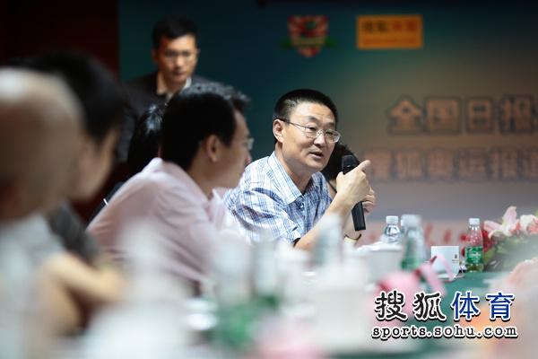 图文:搜狐奥运报道团成立 陈昭参加会议
