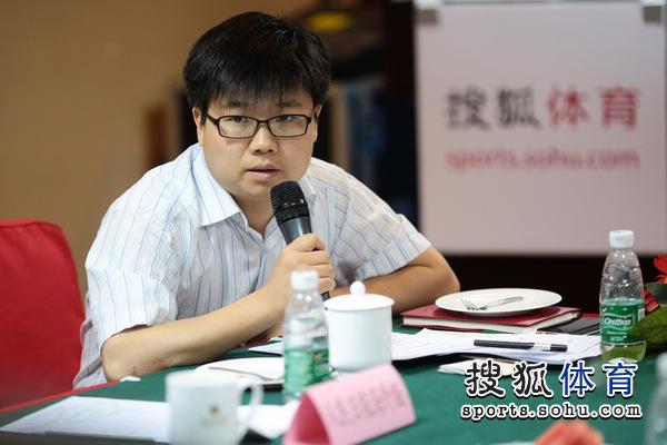 图文:搜狐奥运报道团成立 魏成进行发言