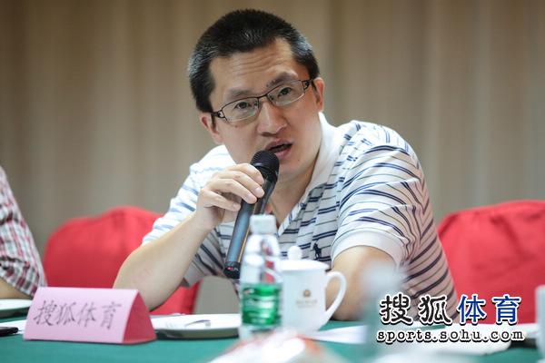 图文:搜狐奥运报道团成立 张艺致辞