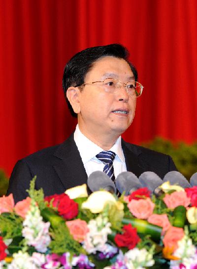 2012年6月8日,张德江在重庆市发展民营经济大会上发表讲话
