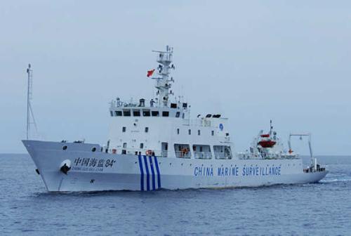 图9:中国海监执法船