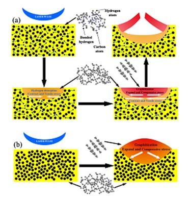 类金刚涂层激光织构加工过程中结构及微形貌演化机理