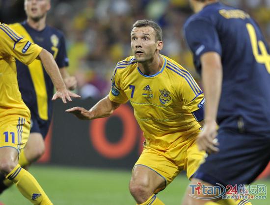 舍甫琴科在欧洲杯赛场上换发第二春