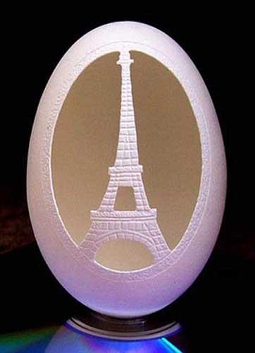 艺术 作品 蛋壳/钻尖上的蛋壳:艺术家用蛋壳雕刻精美作品(组图)