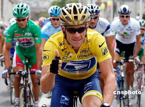 美国自行车名将阿姆斯特朗被控曾服用禁药(图)
