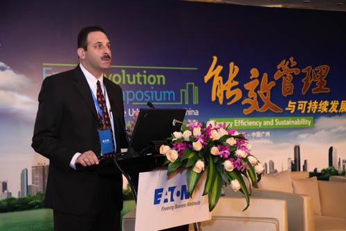 伊顿公司电气集团北亚区总裁罗世光先生在论坛上作主题演讲