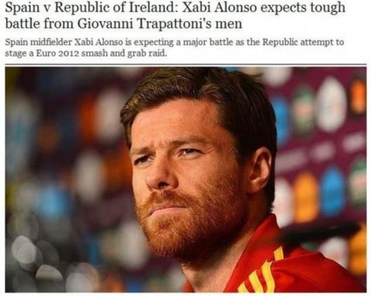 每日电讯报 阿隆索称战爱尔兰要早进球