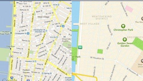谷歌街道地�_苹果谷歌地图比拼:谷歌完胜 苹果惨败