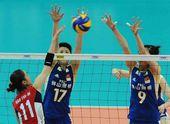 图文:中国女排3-0韩国 张磊曾春蕾拦网